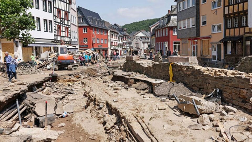 Nach dem Hochwasser in Bad Münstereifel.