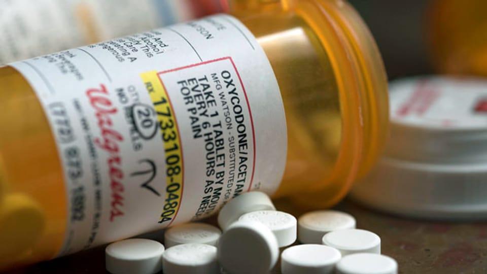 Verschreibungspflichtige Opioid-Medikamente zur Schmerzkontrolle.