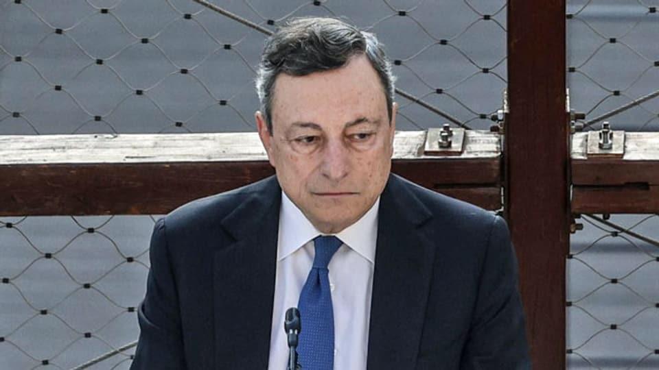 Der italienische Premierminister Mario Draghi in Rom.