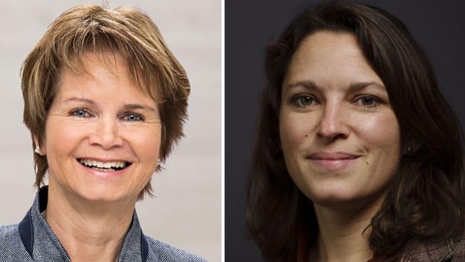 Mitte-Ständerätin Brigitte Häberli-Koller (links) und SP-Co-Präsidentin und Nationalrätin Mattea Meyer.