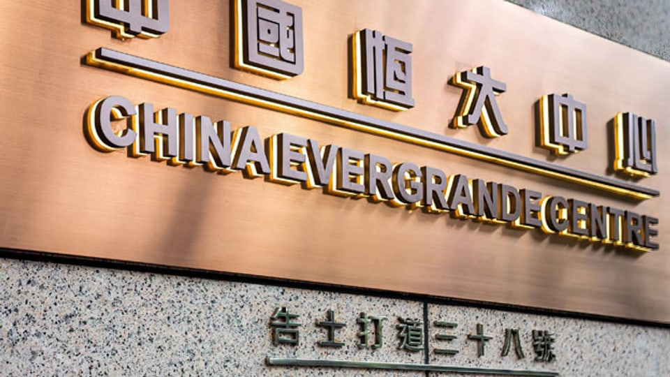 Drohender Kollaps des chinesischen Immobilienkonzerns Evergrande.