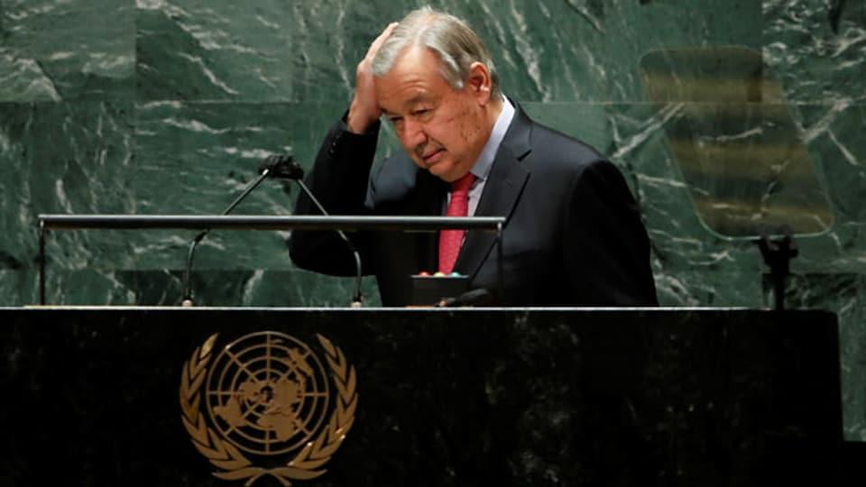 Uno-Generalsekretär Antonio Gutteres hat die diesjährige Uno-Generalversammlung eröffnet.