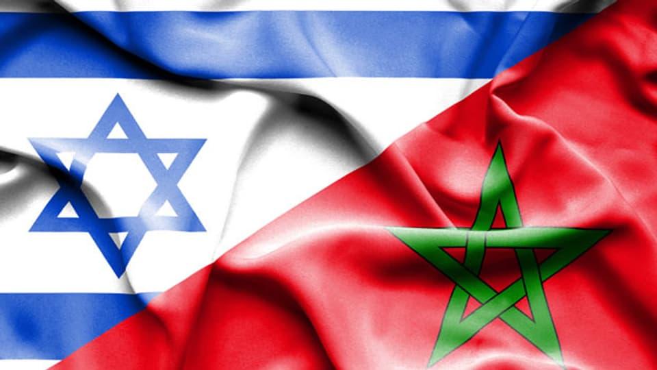 Neue Beziehung: Die Flaggen von Israel und Marokko.