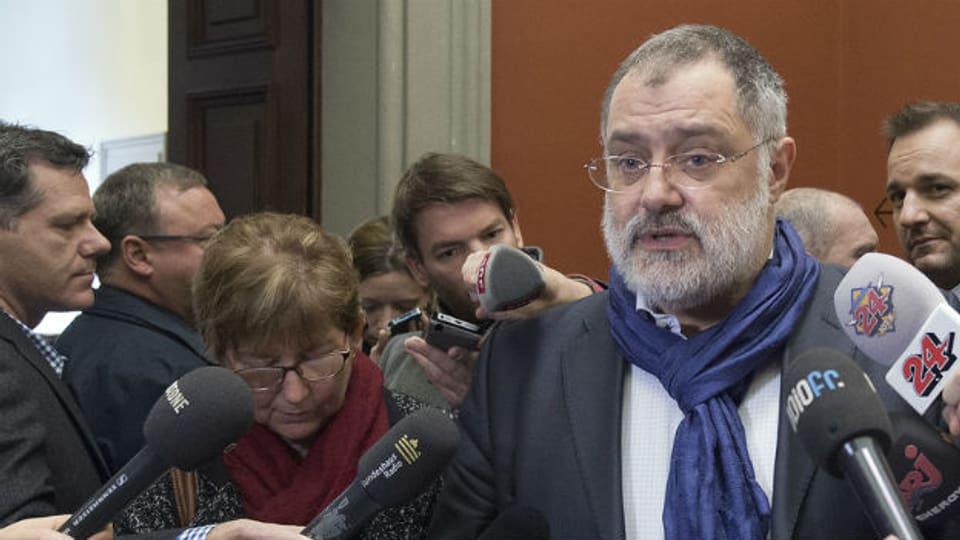 Carlo Sommaruga in der Kritik: er habe kein Mandat des Parlamentes für seine Nahostreise (Archivbild).