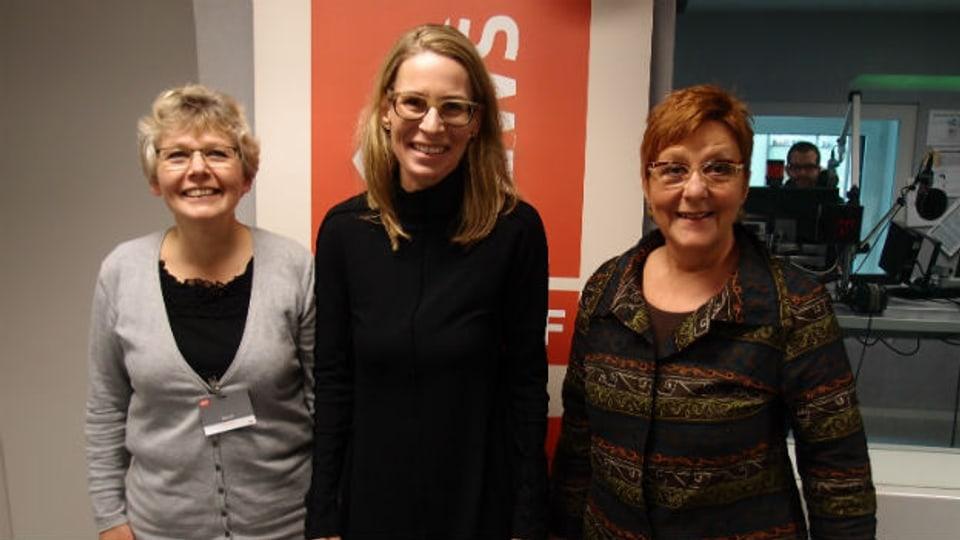 Christine Bühler, Katja Gentinetta, Cécile Bühlmann (v.l.n.r.)