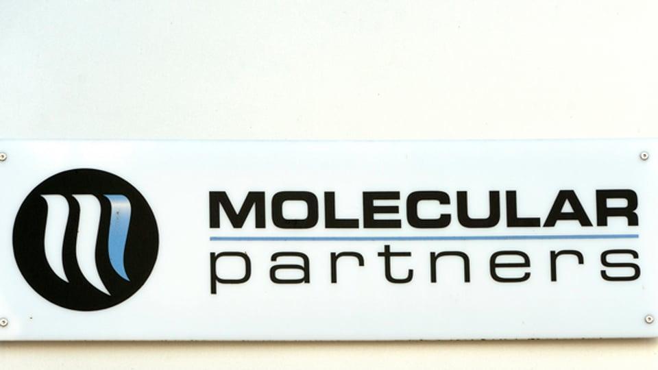Biotech braucht einen langen Atem. Logo von Molecular Partners in Schlieren.