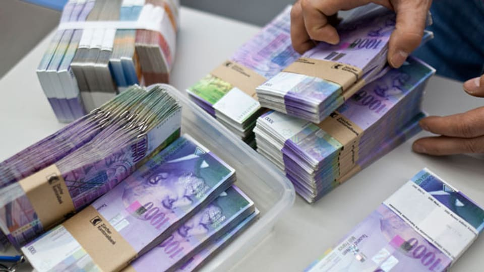 Rund 90 Prozent aller sich im Umlauf befindenden Schweizer Franken sind heute von Banken geschöpftes elektronisches Geld.