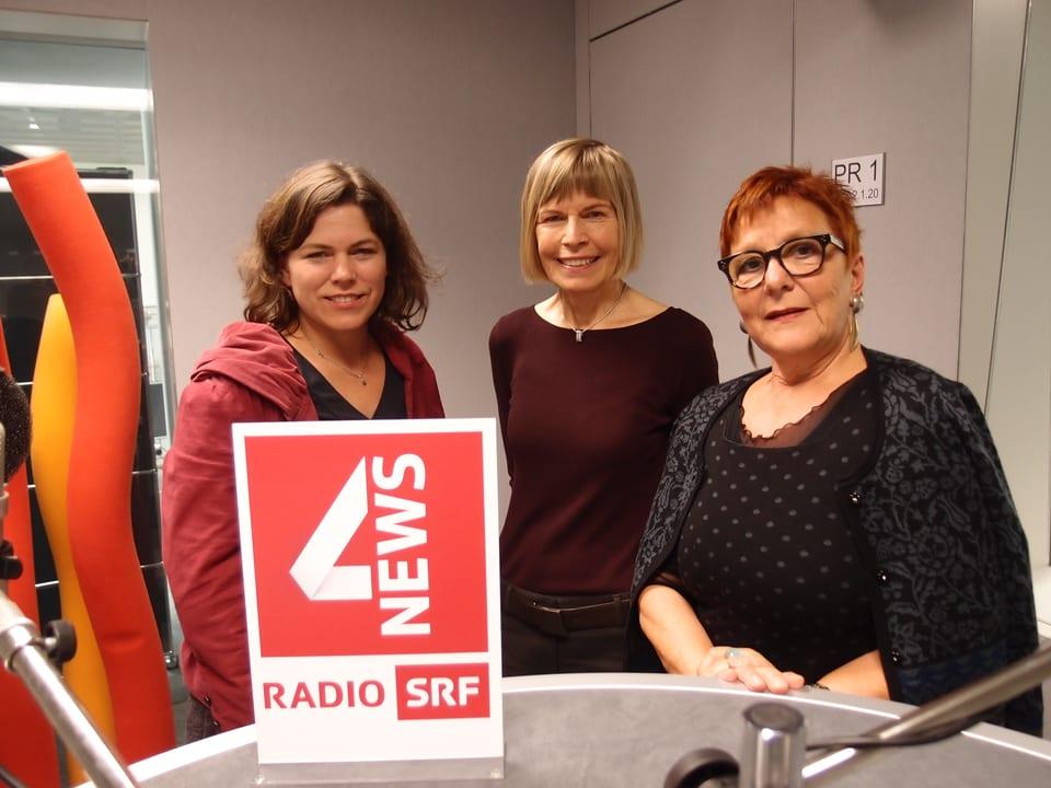 Michelle Beyeler, Erika Forster, Cécile Bühlmann (v.l.n.r.)