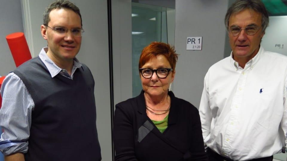 Georg Lutz, Cécile Bühlmann, Peter Bertschi (v.l.n.r.)
