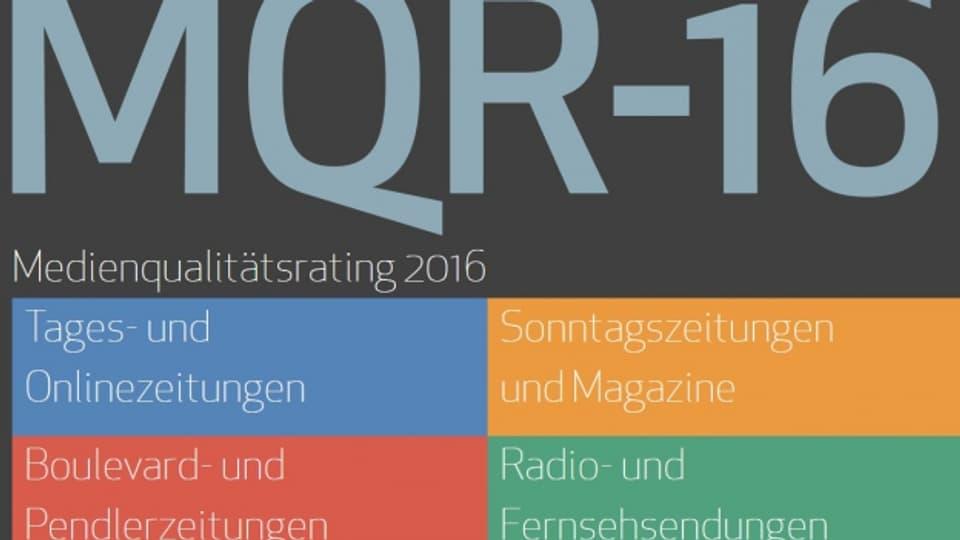 Screenshot des Medienqualitäts-Rating 2016 des Vereins «Medienqualität Schweiz».