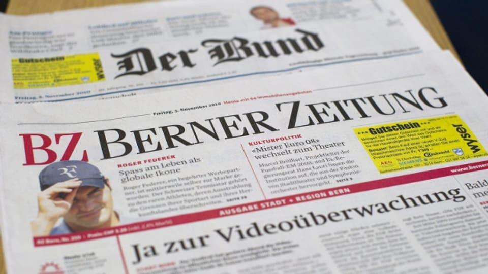"""Die Zeitungen """"BZ"""" und """"Bund"""" - beide aus dem Hause Tamedia."""