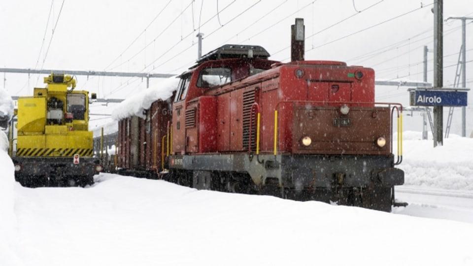 Der Güterverkehr im Tessin ist derzeit völlig eingestellt (Symbolbild).