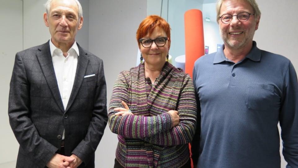 Carlo Schmid, Cécile Bühlmann, Daniele Piazza (v.l.n.r.)