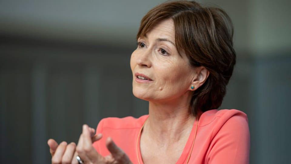 Regula Rytz, Präsidentin GPS und Nationalrätin GPS-BE, am Abstimmungsfest des Komitees «Ja zur Fair-Food-Initiative» in Bern, am 23. September 2018.