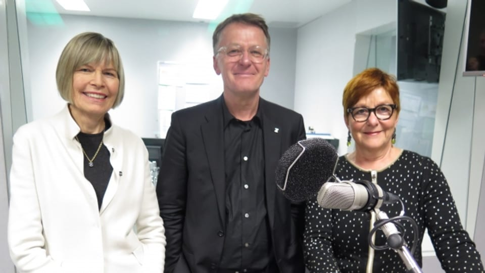 Erika Forster, Thomas Meier, Cécile Bühlmann (v.l.n.r.)