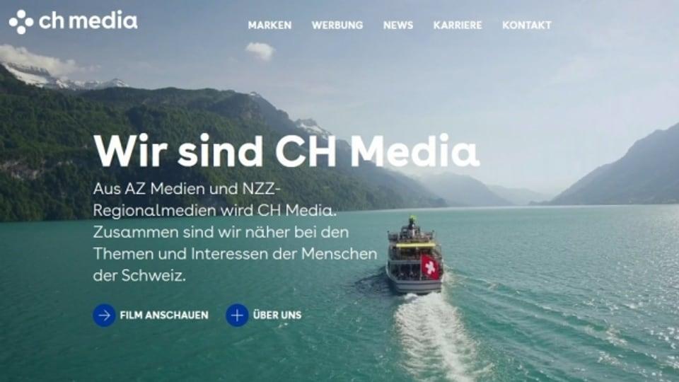 Screenshot der Website von CHmedia.ch