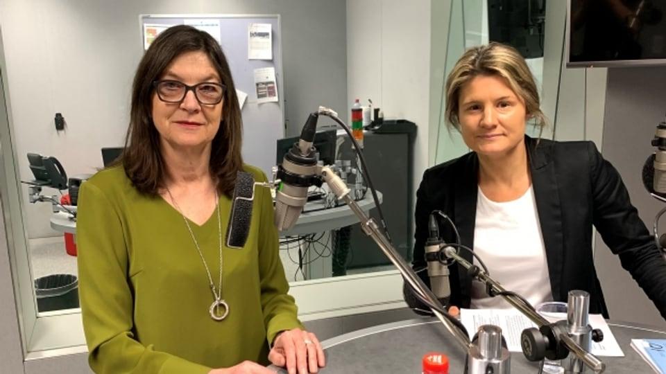Silvia Schenker (SP) und Barbara Steinemann (SVP)