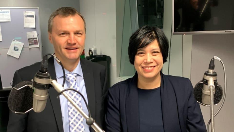 Bernhard Guhl (BDP) und Min Li Marti (SP)