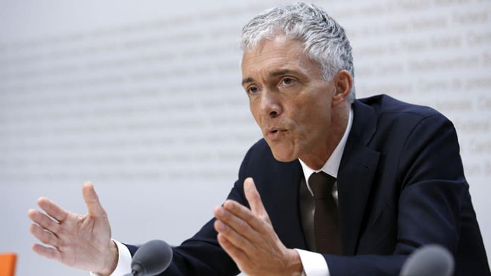 Der Schweizer Bundesanwalt Michael Lauber am 10. Mai 2019 zu einer Medienkonferenz im Medienzentrum des Bundeshauses in Bern.