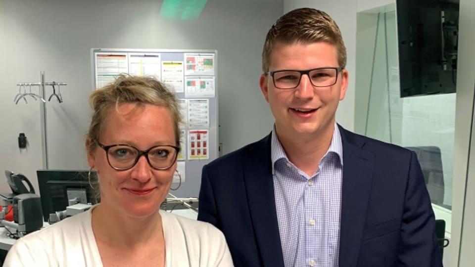 Zu Gast im Politikum waren Aline Trede (Grüne) und Mike Egger (SVP)
