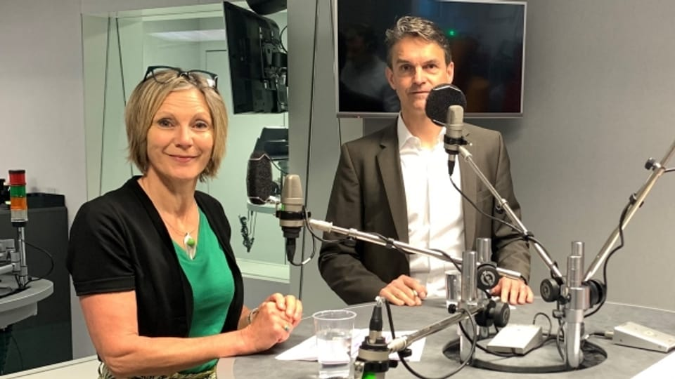 Zu Gast im «Politikum» sind Maya Graf (Grüne) und Beat Walti (FDP).