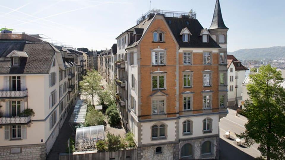 Siedlung der 1892 gegründeten Wohnbaugenossenschaft an der Sonneggstrasse in Zürich.