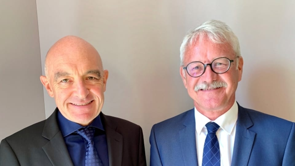 Zu Gast im «Politikum»: Daniel Jositsch (ZH) und Beat Vonlanthen (FR)