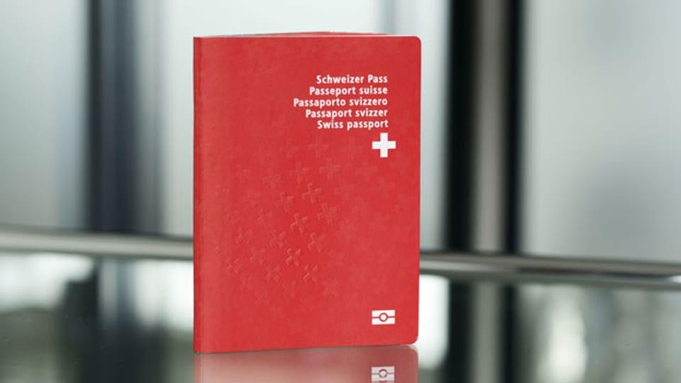 Ein biometrischer Schweizerpass.
