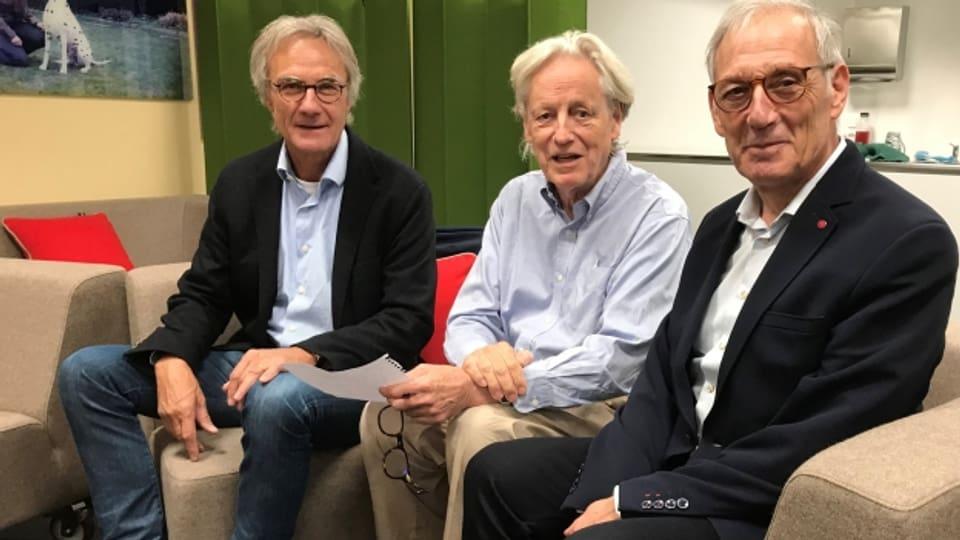 Peter Bertschi (links), Thomas Held und Carlo Schmid