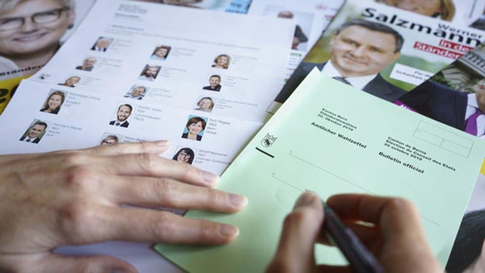 Wahlzettel zu den Parlamentswahlen vom 20. Oktober 2019.