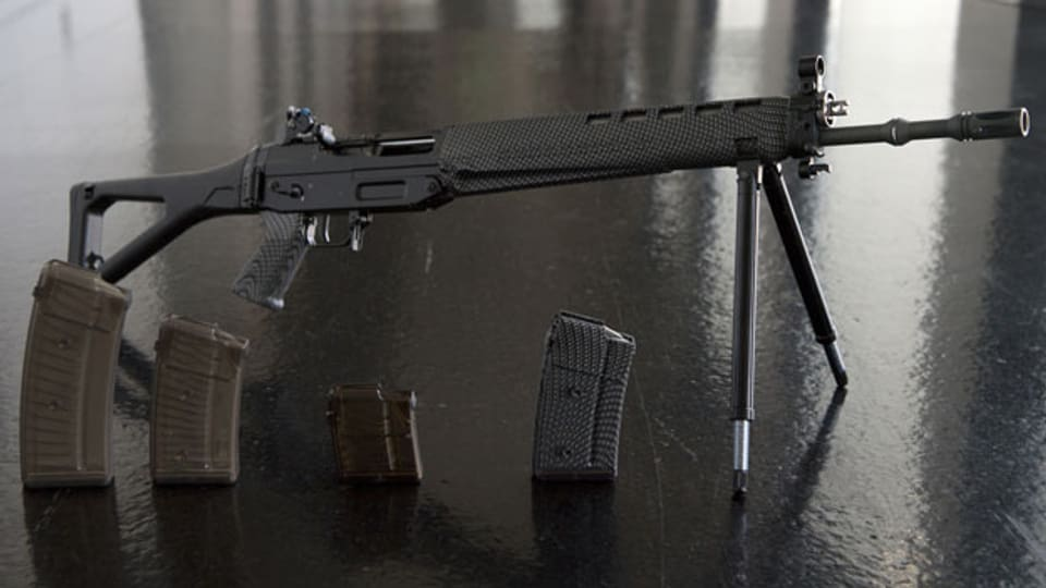 Symbolbild: Ein SIG 550 Sturmgewehr mit unterschiedlichen Magazinen.