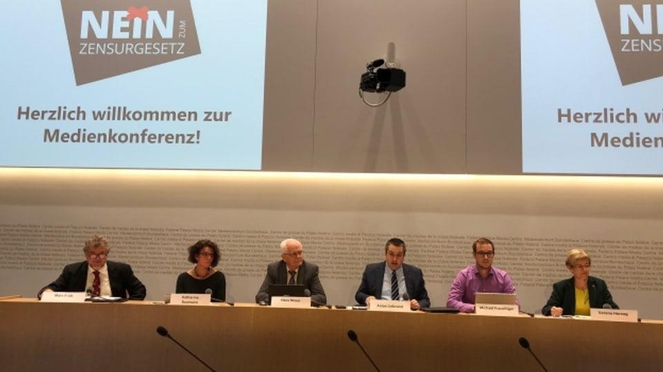 Medienkonferenz der EDU und Jungen SVP.