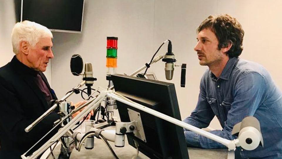 Rudolf Strahm (links) im Gespräch mit Samuel Wyss.