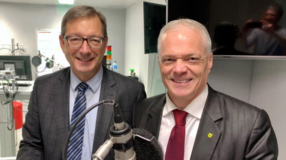 Die beiden Ständeräte Josef Dittli (FDP) und Thomas Minder (parteilos) sind zu Gast im «Politikum».