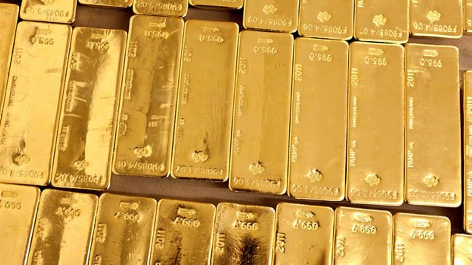 Schweizer Goldbarren.