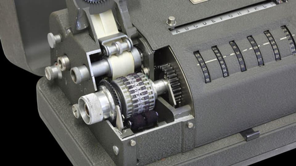 Mechanische Chiffriermaschine der Crypto AG.