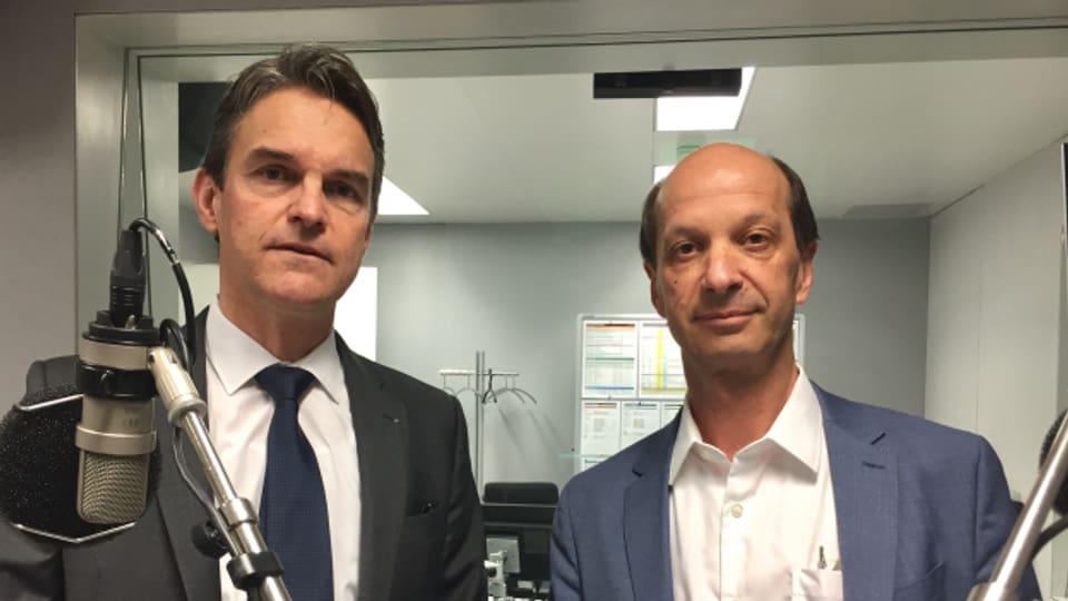 Sind sich nicht einig: Nationalrat Beat Walti und Ständerat Beat Rieder