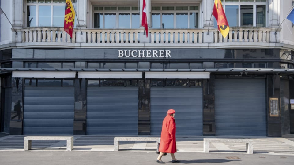 Die Geschäfte am Luzerner Schwanenplatz sind bis auf weiteres geschlossen.