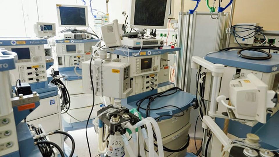 Intensivstation in einem Spital.