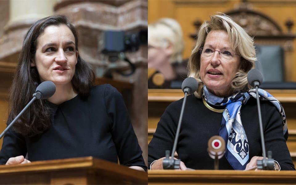 Friedensförderung mit der Armee oder zivil? Marionna Schlatter und Jacqueline de Quattro sind sich uneins.
