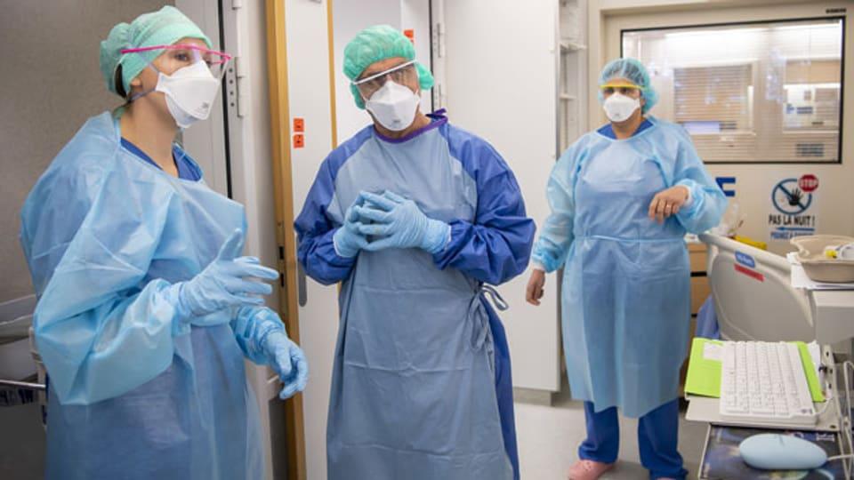 Symbolbild. Pflegepersonal in einem Spital.