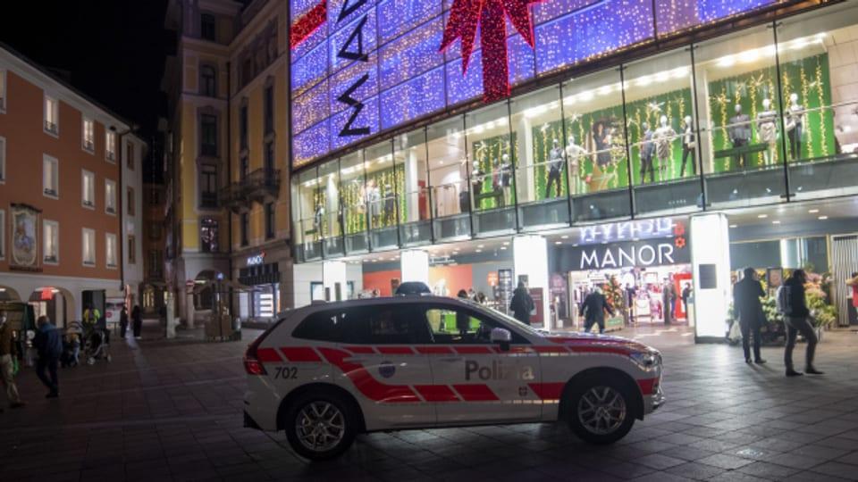 Terrorverdacht in Lugano: In einem Warenhaus kam es zu einer Messerattacke.
