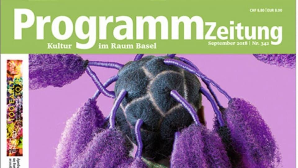 Eine Ausgabe der ProgrammZeitung - dem Kulturmagazin in Basel aus dem Jahre 2018.