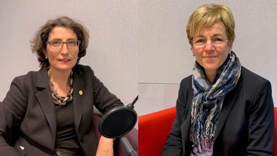 Manuela Weichelt-Picard (Grüne) und Verena Herzog (SVP)