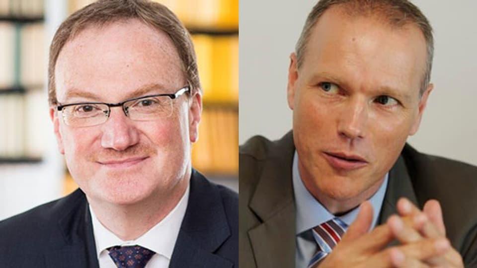 Die Ökonomen Lars Feld (li.) und Jan-Egbert Sturm im Tagesgespräch.