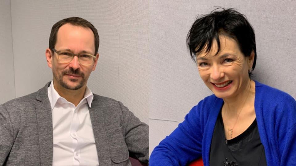 Balthasar Glättli (Grüne) und Marianne Binder (CVP)