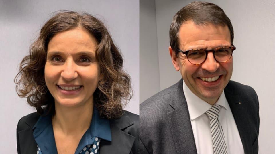 Gabriela Suter (SP) und Matthias Jauslin (FDP)