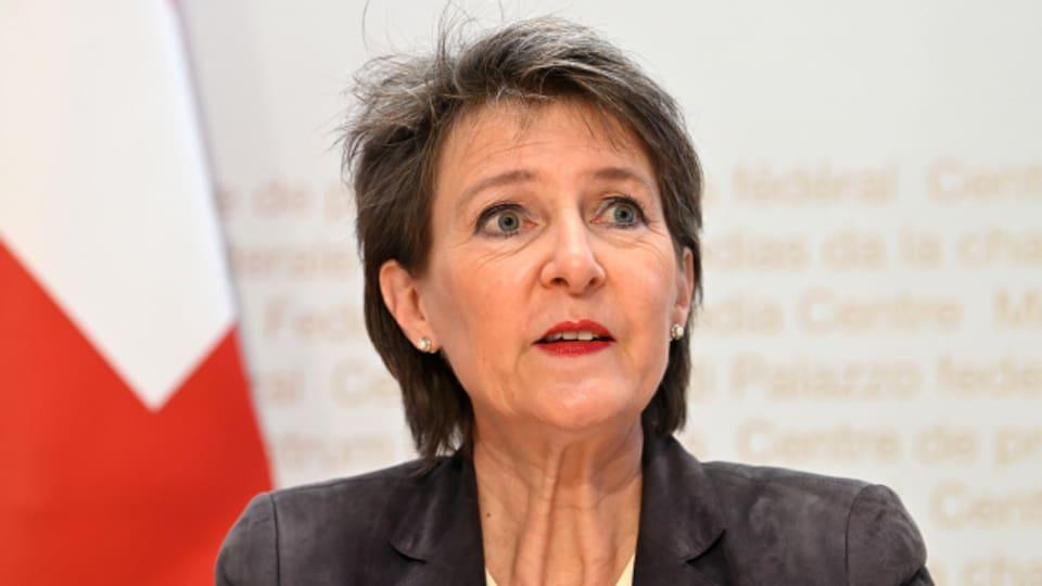 Verkehrsministerin Simonetta Sommaruga