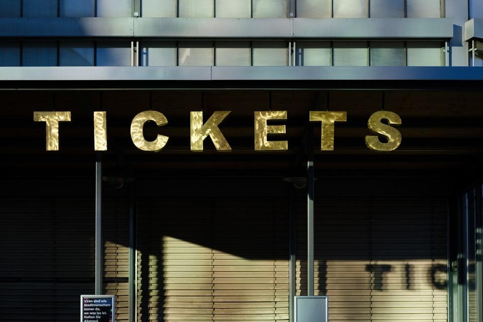 Der geschlossene Ticket-Schalter der Maag Music Hall in Zürich