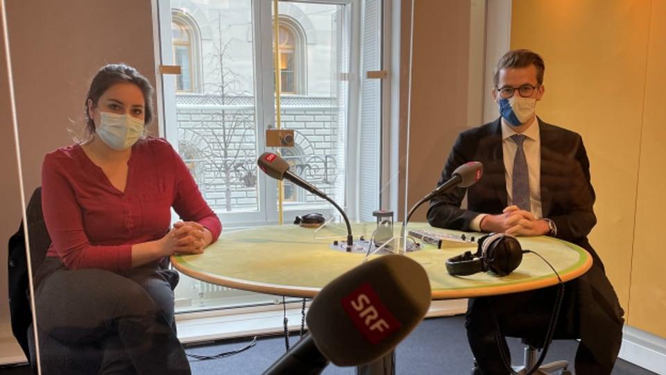 Sind sich nicht einig: Samira Marti (SP) und Andri Silberschmidt (FDP)